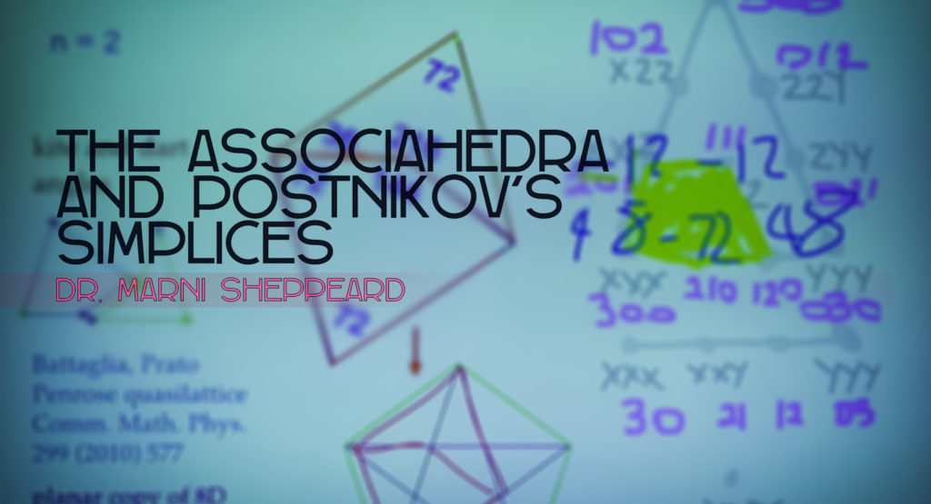 Dr. Marni Sheppeard talks about category theory, the associahedra & Postnikov's simplices
