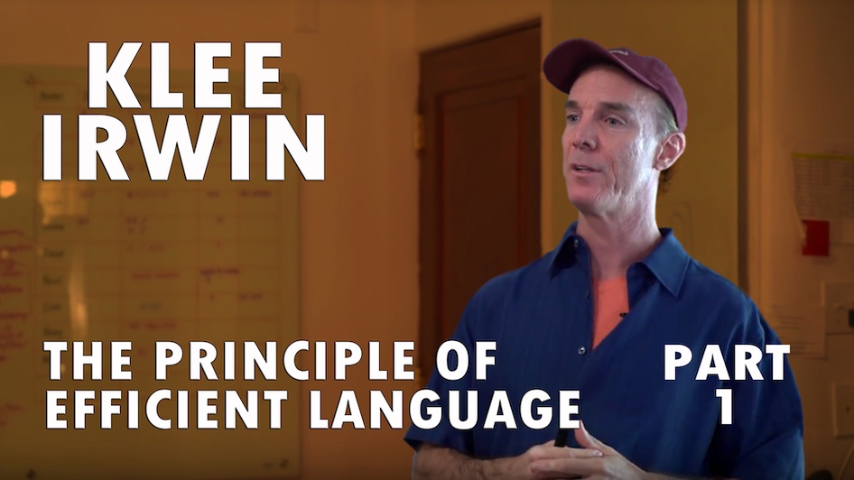 The Principle of Efficient Language
